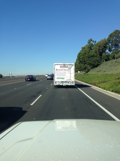 Trucking up the Newport Coast, leaving the OC behind.