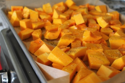 Butternut squash or pumpkin will work just fine for this recipe.